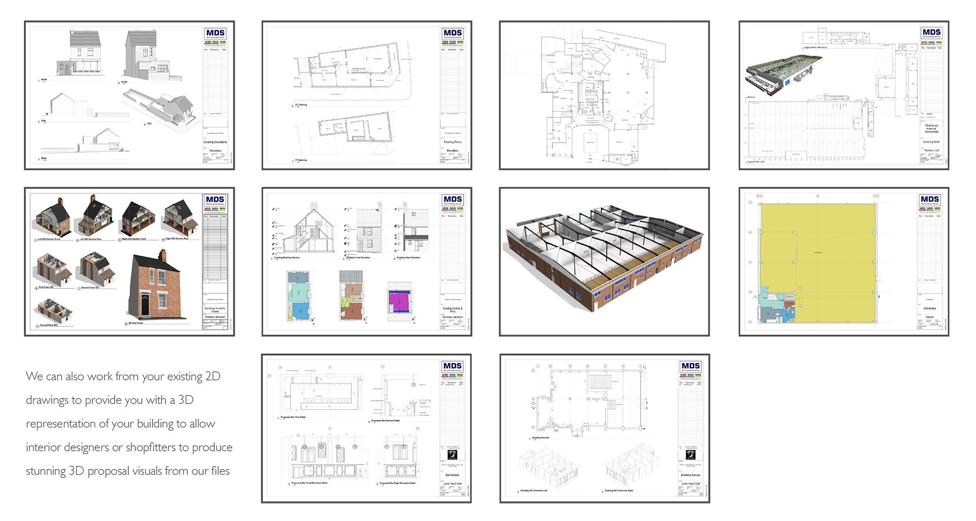 Measured Building Survey Drawing Examples